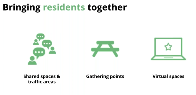 Why community is important in resident apartment complexes