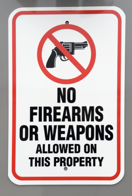 Can a landlord say no guns in my apartments?