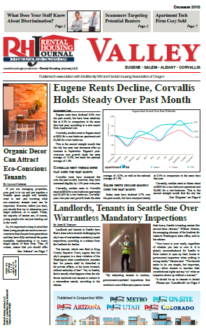 Rental Housing Journal Oregon Metro and Valley December 2018