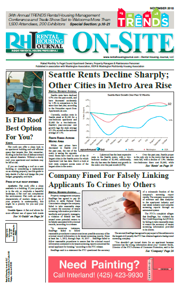 November On-Site Seattle Puget Sound Rental Housing Journal - Most Recent Print Edition