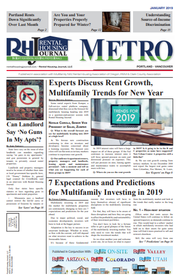 Rental Housing Journal Portland Metro Edition January 2019