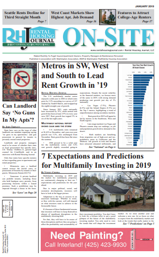 Rental Housing Journal Seattle On-Site Puget Sound Print Edition January 2019