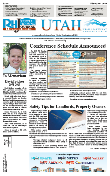 Rental Housing Journal Utah February 2019 Print Edition