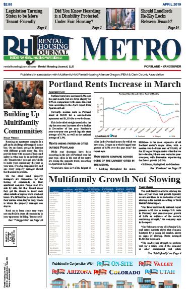Rental Housing Journal Portland Metro April 2019