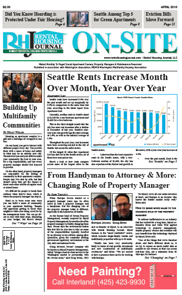 Rental Housing Journal Seattle On-Site Puget Sound Edition April 2019