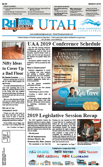 Rental Housing Journal Utah March 2019