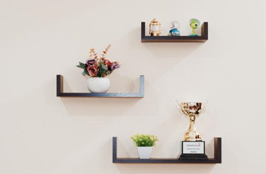 open shelving like this can be one of 5 Easy DIY Projects That Can Add Value to Your Rental Property