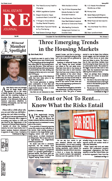 Spring 2019 Real Estate Journal from the National Real Estate Investors Association