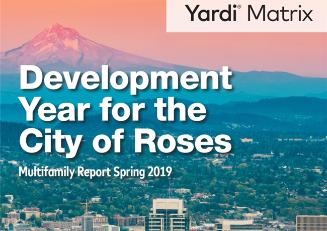 Portland multifamily rent growth has cooled due to more than 5,000 units coming online in 2018 with rents increasing only 1.9% year-over-year through February,
