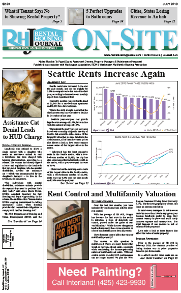 Rental Housing Journal Washington Seattle On-Site Puget Sound Edition July 2019