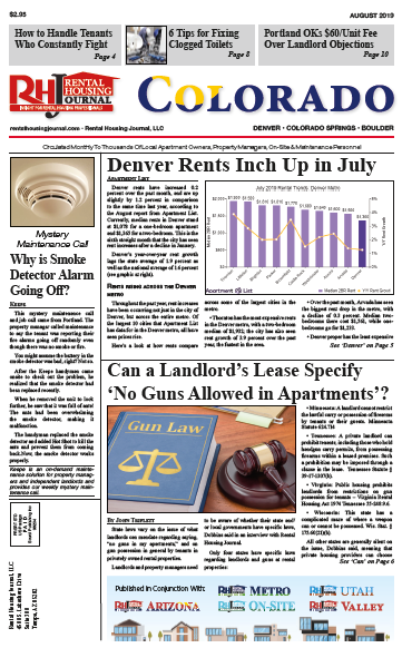 Rental Housing Journal Colorado August 2019