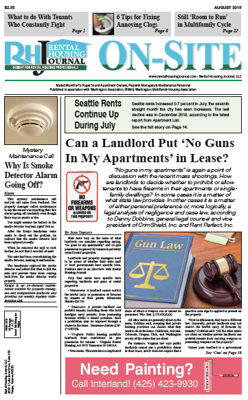 Rental Housing Journal Washington Seattle On-Site Puget Sound edition August 2019