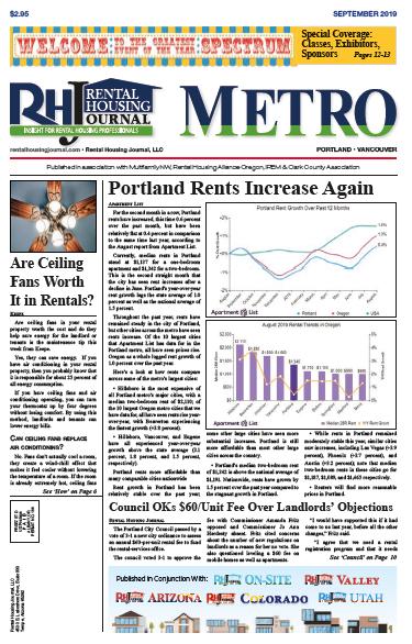 Rental Housing Journal Metro Portland September 2019