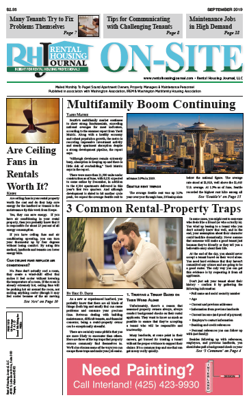 Rental Housing Journal Seattle Washington On-Site Puget Sound Edition September 2019