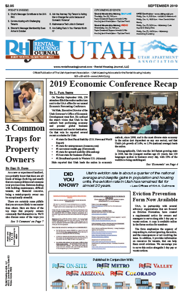 Rental Housing Journal Utah September 2019