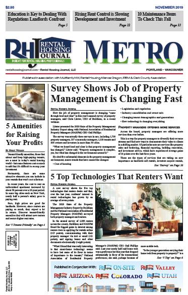 Rental Housing Journal Portland Metro November 2019