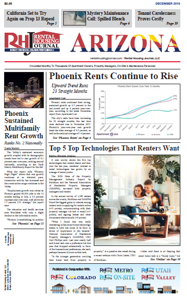 Rental Housing Journal Arizona December 2019