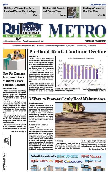 Rental Housing Journal Portland Metro December 2019