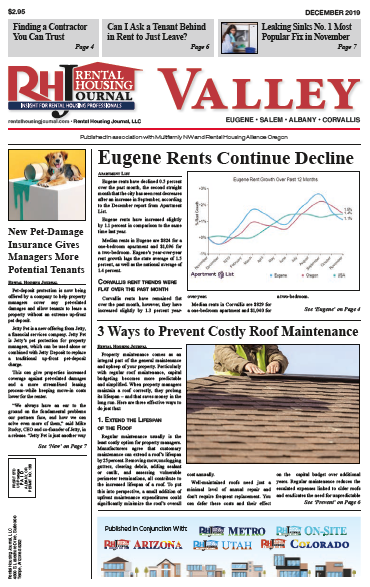 Rental Housing Journal Oregon Valley Edition December 2019