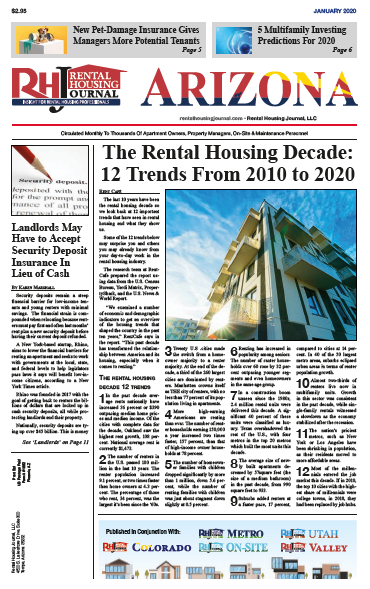 Arizona Rental Housing Journal January 2020