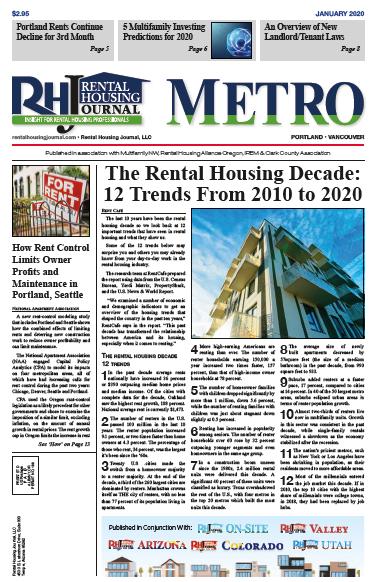 Portland Metro Rental Housing Journal January 2020