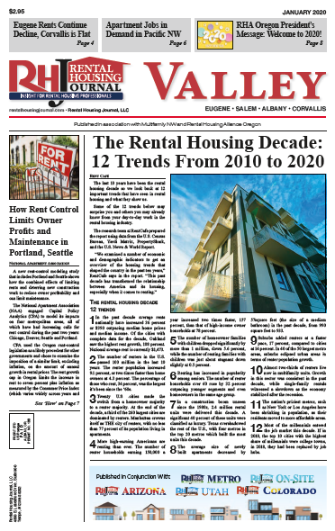 Oregon Valley Rental Housing Journal January 2020