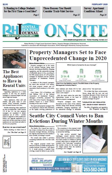 Seattle Washington On-Site Rental Housing Journal February 2020
