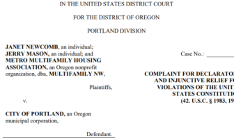 Multifamily NW and Landlords File Suit to Stop Portland's New FAIR Rules