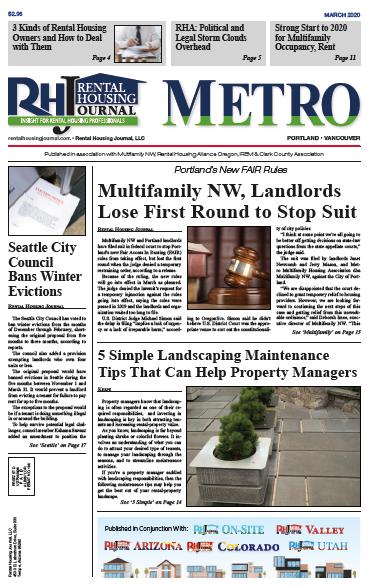 Portland Metro Rental Housing Journal March 2020