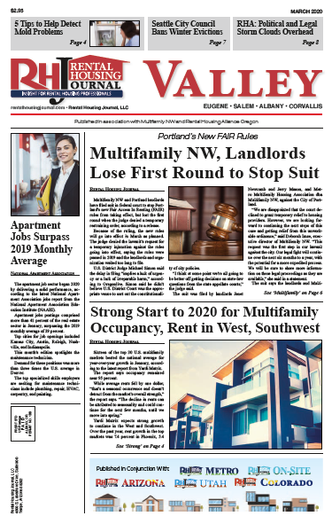 Oregon Valley Rental Housing Journal March 2020